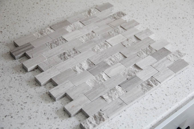 tile but in a mosaic form rather than subway tiles