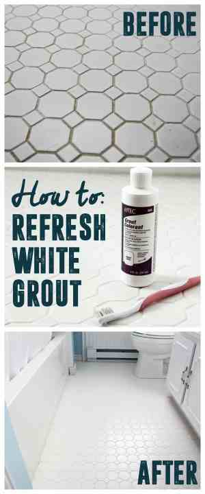 How to get white grout clean bright green door for How to make grout white again