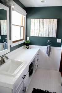 How to Paint Tile Countertops and our Modern Bathroom ...