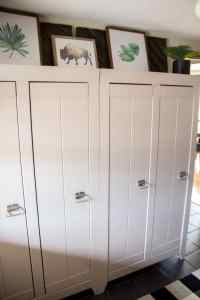 Mudroom Cabinets - Bright Green Door