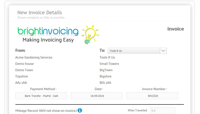 Home - Bright Invoicing Online Invoicing made easy - home invoice