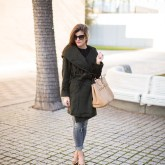 Hunter Green Wrap Coat