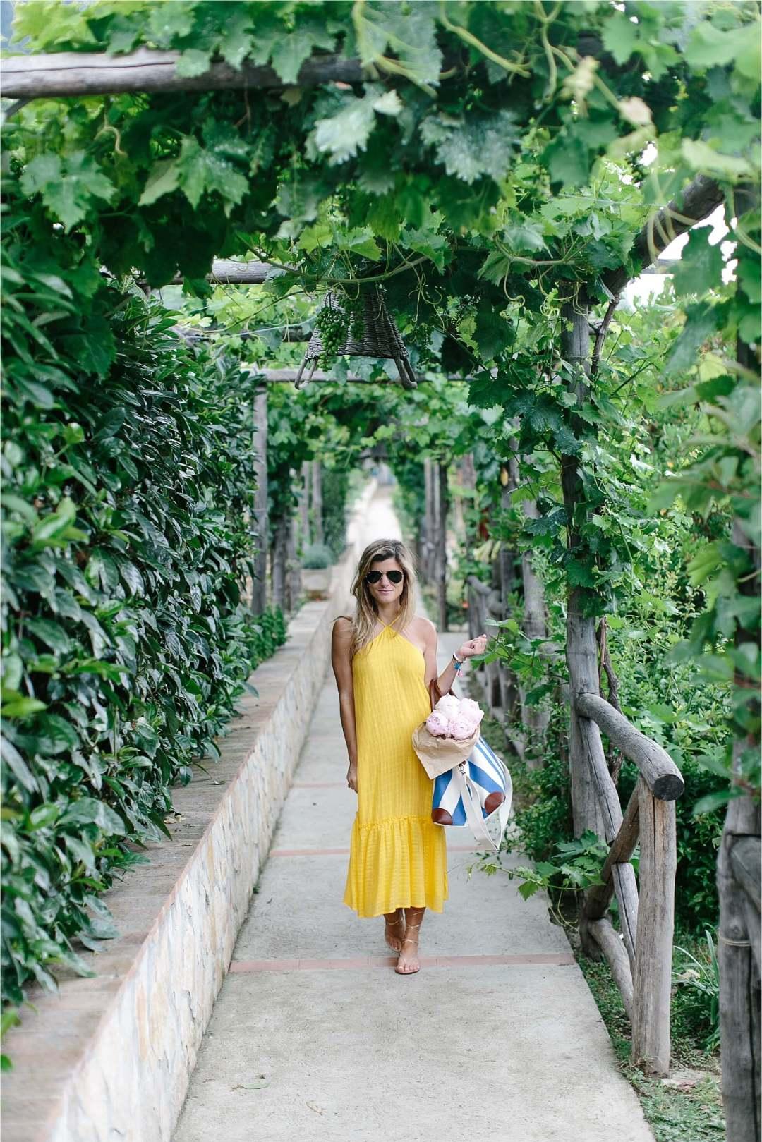 knot sisters high-neck yellow dress capri italy 24-1