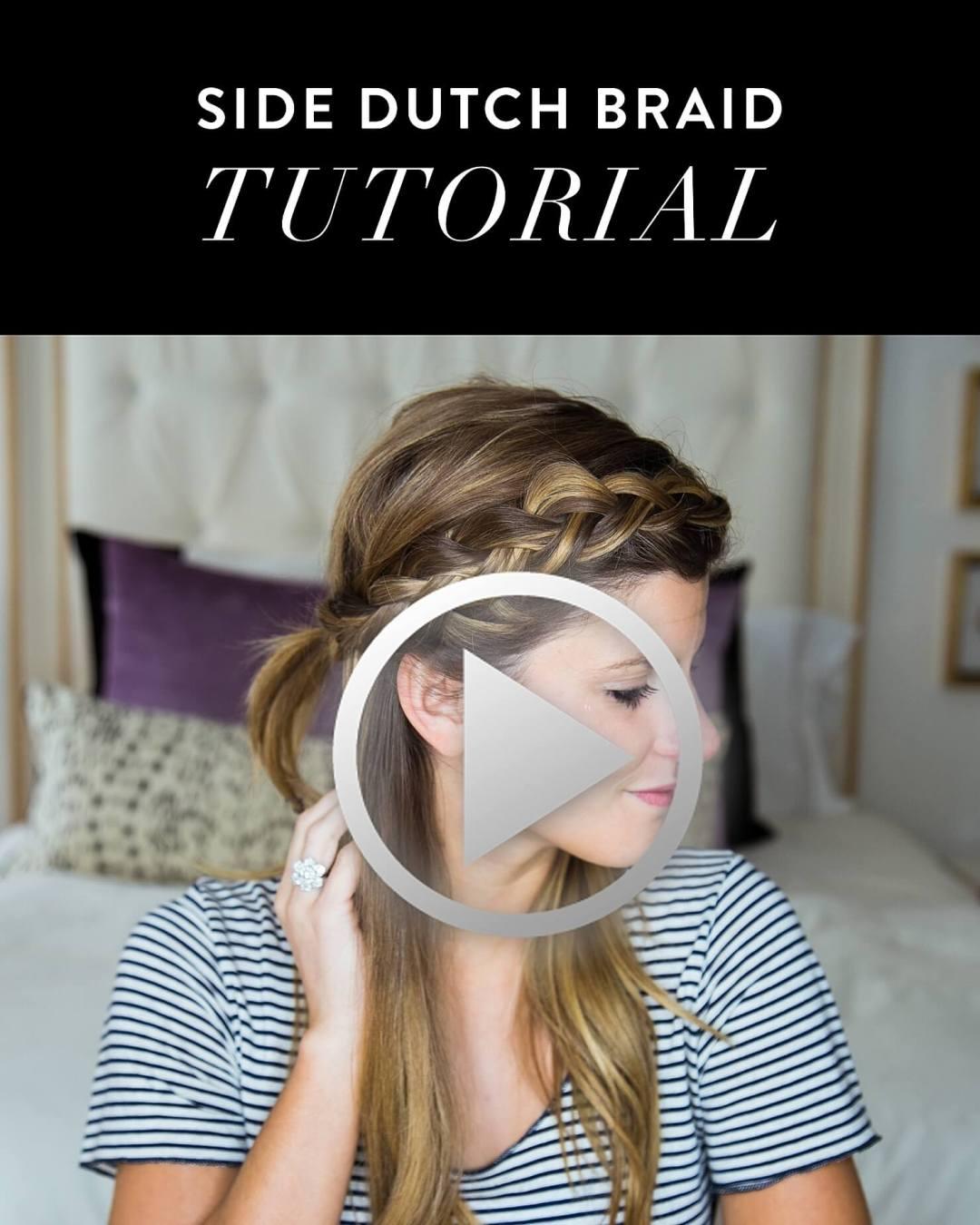 how to do a side dutch braid hair tutorial // half half down dutch braid hair tutorial video