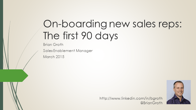 on boarding new sales reps