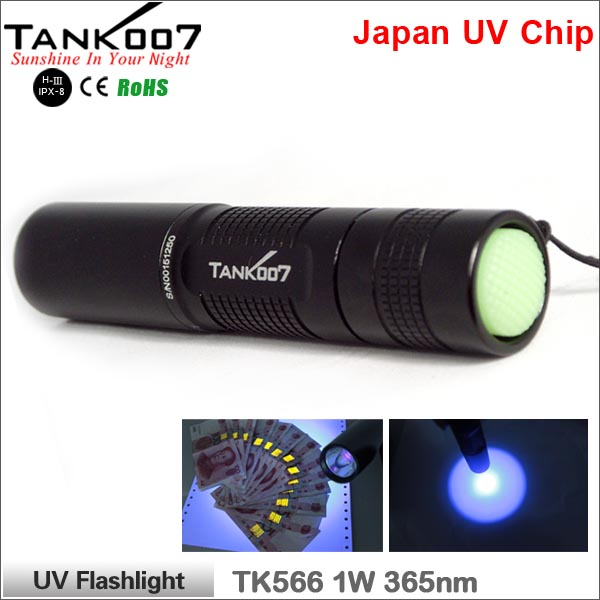 TK566 TANK007 UV Flashlight for leak detectionUV Black Flashlight