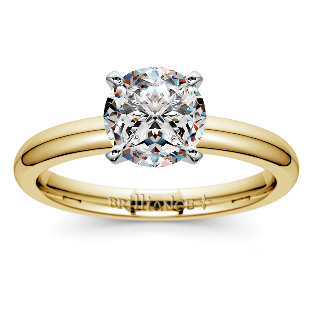 classic solitaire ring yellow gold yellow gold wedding rings