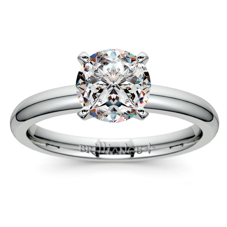 Comfort-Fit Solitaire Engagement Ring in Palladium (2mm)