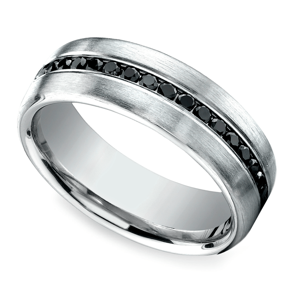 channel black diamond mens band platinum mens platinum wedding rings