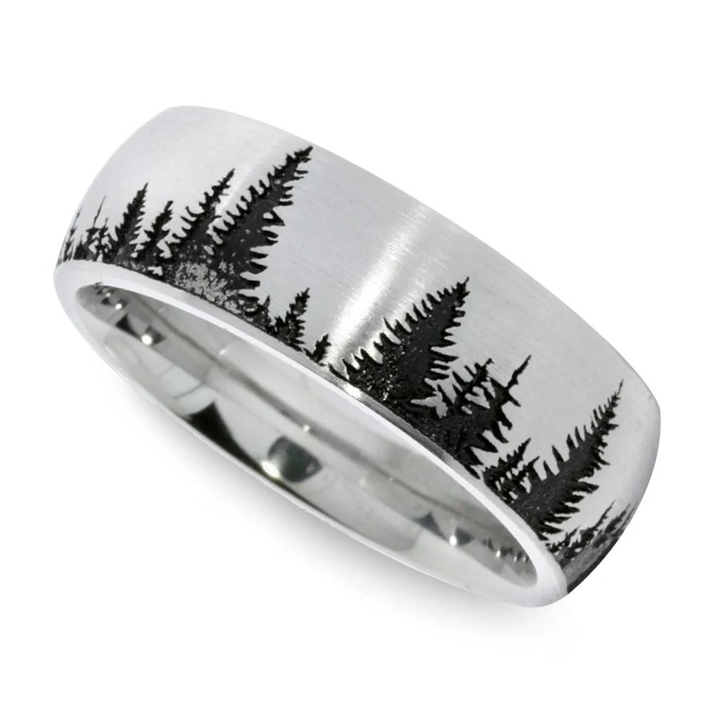 Cobalt Rings cobalt wedding rings Cobalt Chrome 8MM Black Diamond Wedding Band Ring w Stepped Edges