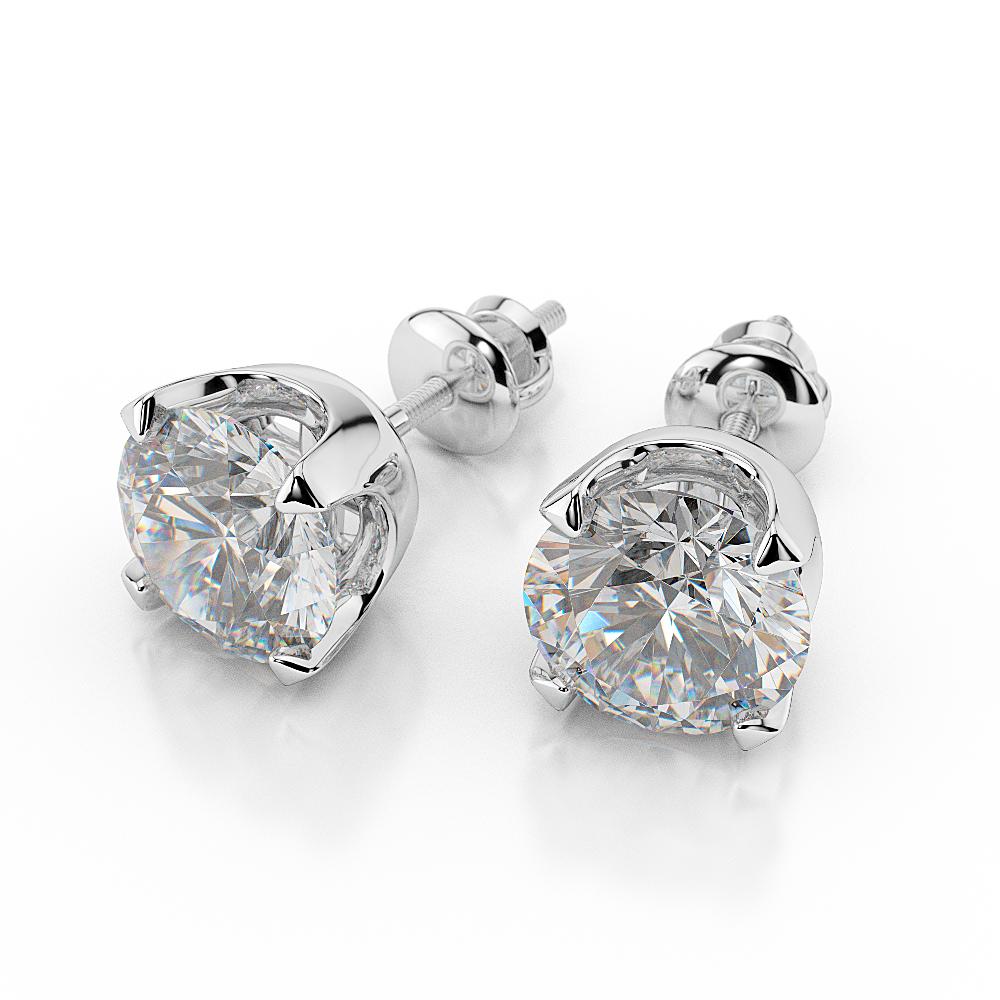 nataliacerri: Ct G VS2 Round Cut Diamond Stud Earrings 1/2