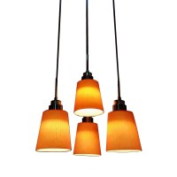 4 Light LED Hanging Pendant Lamp in RED l Brilliant Source ...