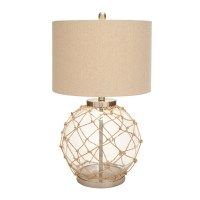 Woodland Imports Beautiful Table Lamp in Beige l Brilliant