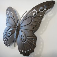 CONTEMPORARY METAL WALL ART DECOR BUTTERFLY SILHOUETTE | eBay