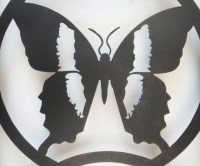 Contemporary Metal Wall Art - Butterfly Silhouette Trio | eBay