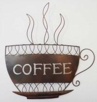 Metal Wall Art - Traditional Coffee Cup