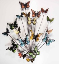 Metal Wall Art - Butterfly Explosion