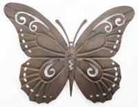 Metal Wall Art - Rustic Butterfly Silhouette