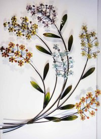 Floral Metal Wall Art