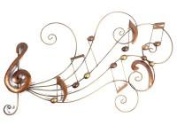 Metal Wall Art - Music Scroll Swirl