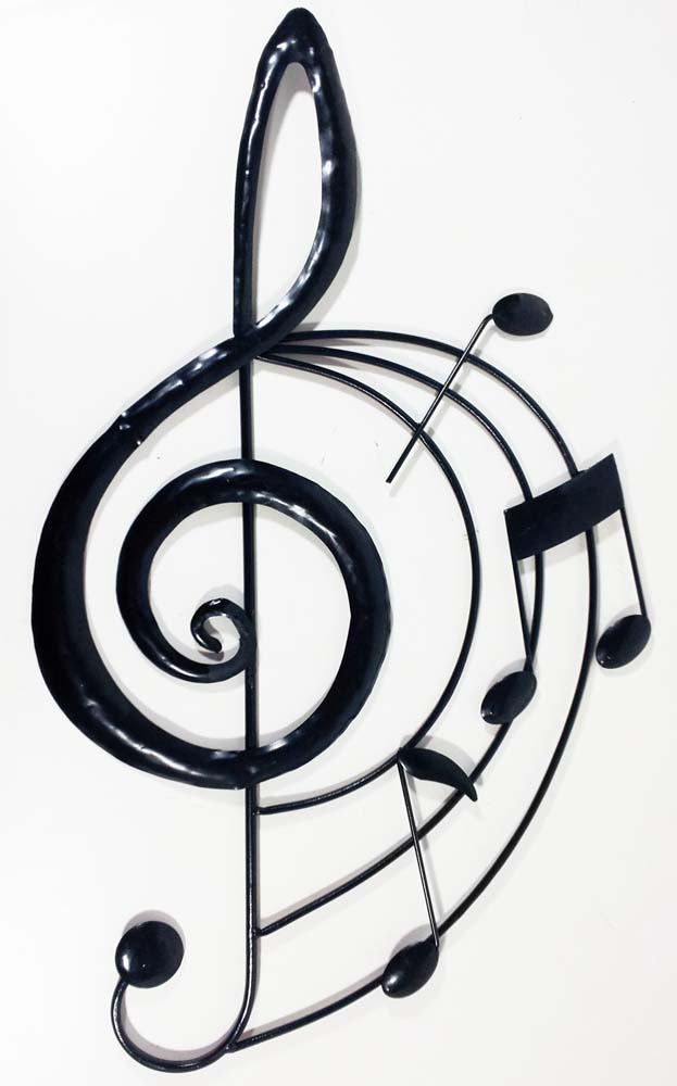 Metal Wall Art - Music Treble Clef Scroll - clef music