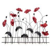Flower & Plant Metal Wall Art | Metal Wall Art ...