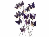 Metal Wall Art - Purple Haze Butterflies