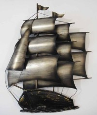 Contemporary Metal Wall Art Or Sculpture Sailing Tall Ship ...