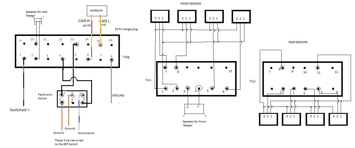 bmw parking sensor wiring diagram