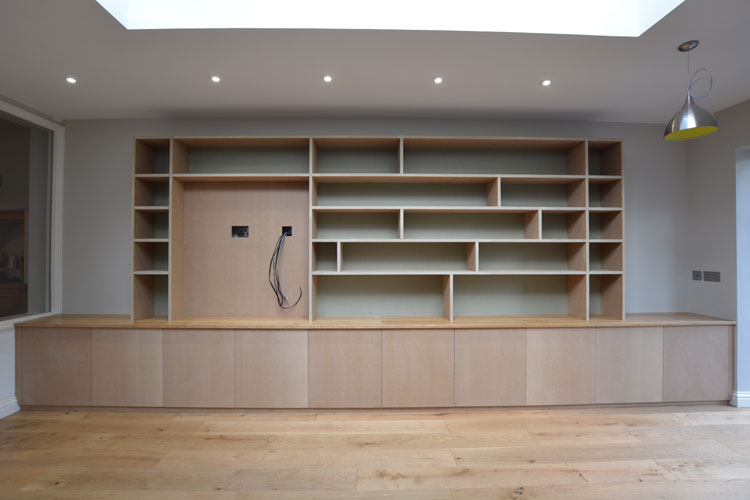 Bepoke Bookcase And Media Cabinets Bristol Hand Built