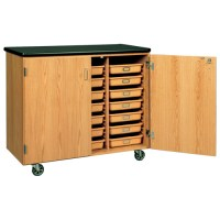 Mobile Storage Cabinet with Bins