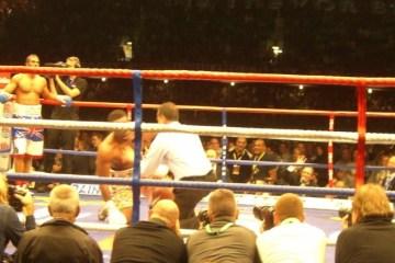 Haye v Chisora KO ringside