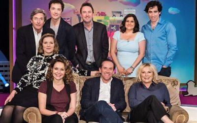 host ben miller and the panellists on We Love Sitcom