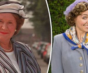 kerry howard plays a outhful version of hyacinth bucket