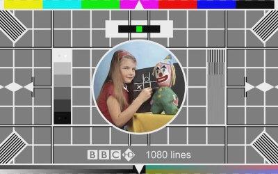 vintage tv the old test card