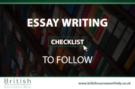 Essay Writing Checklist To Follow