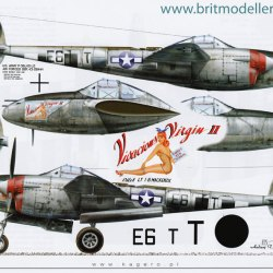 P 38 Lightning at War Part Ii Decal Sets by Kagero Reference