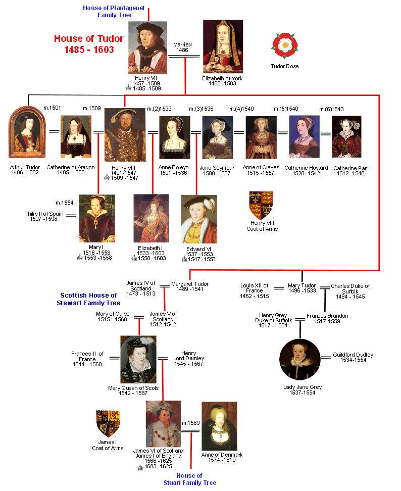 House of Tudor Family Tree Britroyals