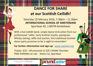 Dance for Share Scottish Ceilidh @ International School of Amsterdam | Amstelveen | Noord-Holland | Netherlands
