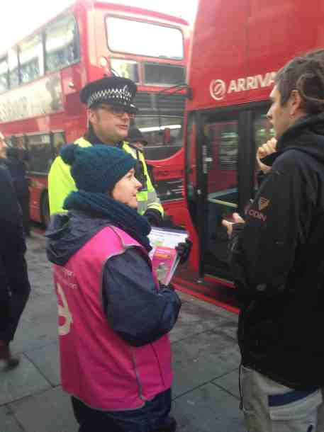tube strike cop