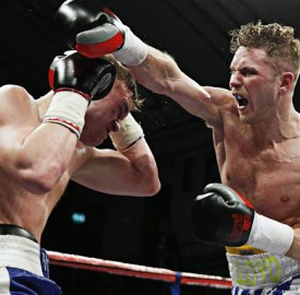 Lloyd Ellett (pictured to the right) in action in the ring.