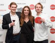 Sarah Willingham with Tom and Freddie from winning restaurant Kricket