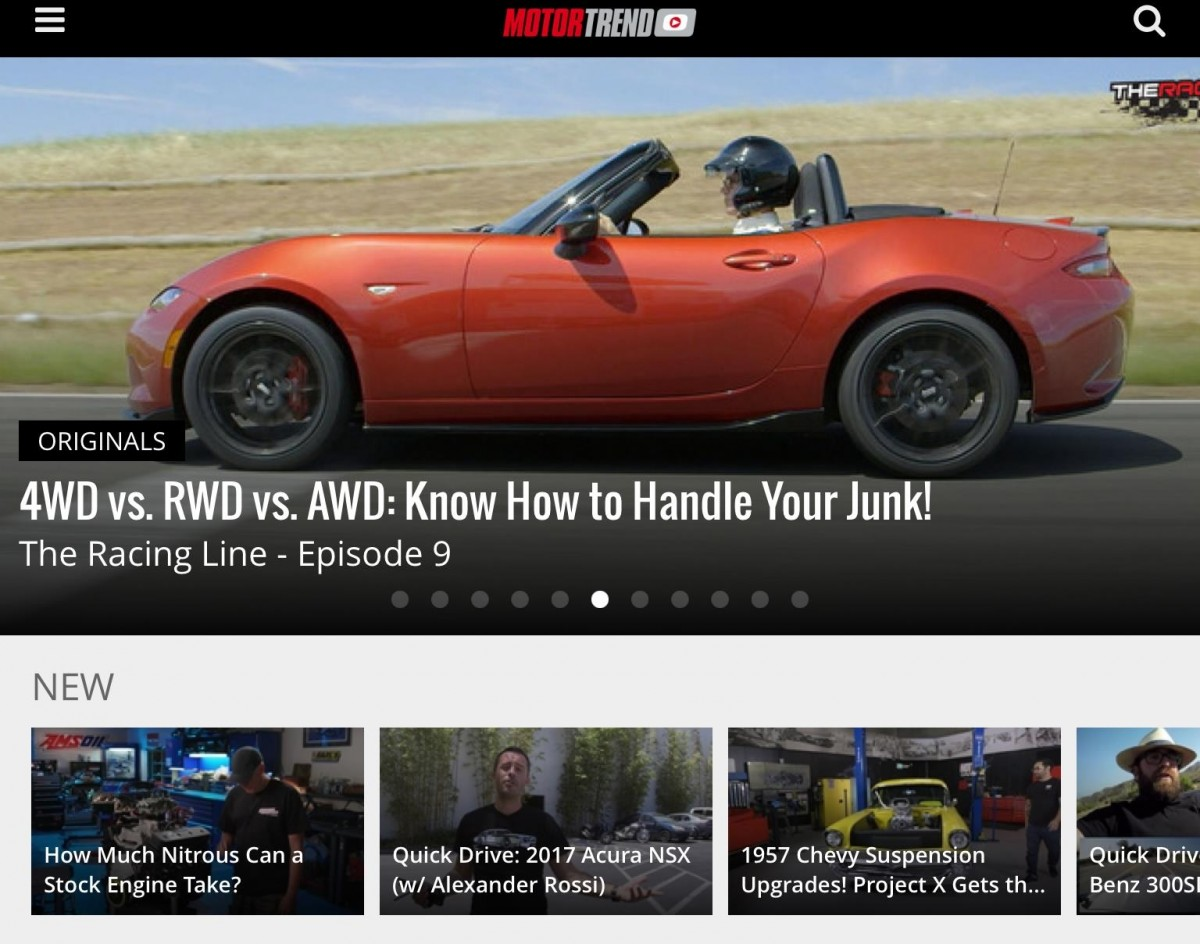 3ss brings ten s motor trend svod to multiple screens for Is motor trend on demand worth it