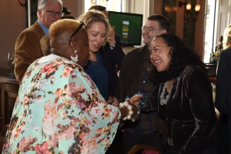 Sandy Channer of Gogglebox meets a former MP, Oona King of Channel 4