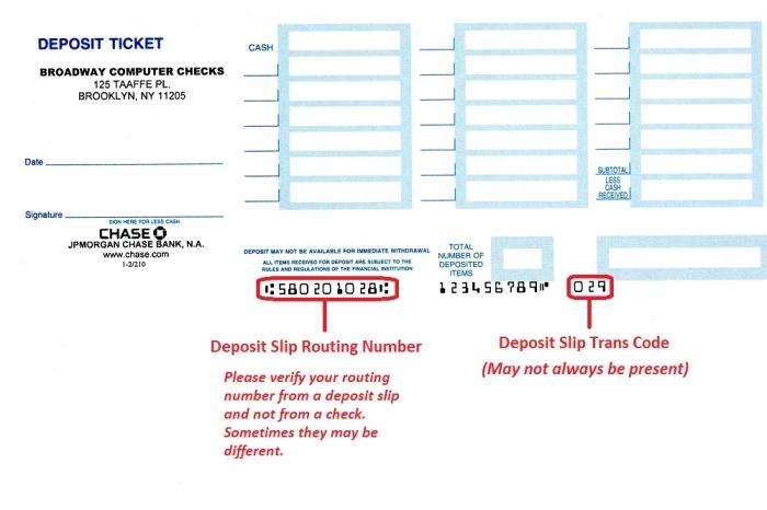 QuickBooks™ Deposit Slips