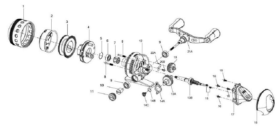 diagrams of fishing rod racks