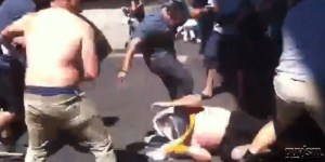 San Francisco-Oakland fans square off in brutal interleague fight
