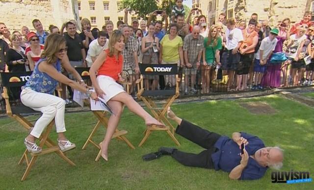 Savannah Guthrie Panders To The Foot Fetish Upskirt Crowd
