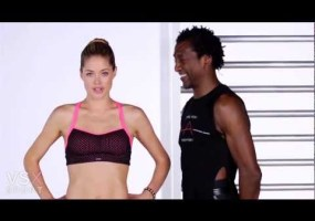Video thumbnail for youtube video Doutzen Kroes workout video for Victoria's Secret - Guyism