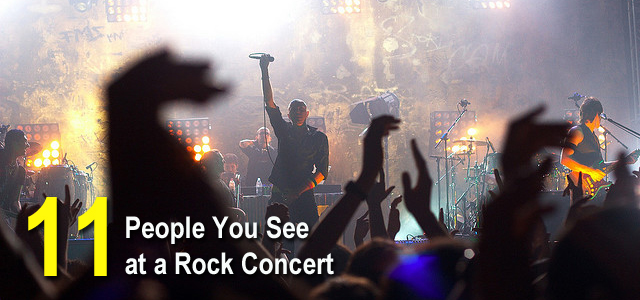 people at a rock concert